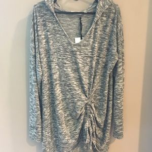 89th & Madison Tops - BNWT, 89th + Madison, Oversized Hooded Top!